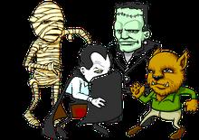 Animated_Cute_Dancing_Monsters_Mummy_Dracula_Frankenstein_Wolfman-1