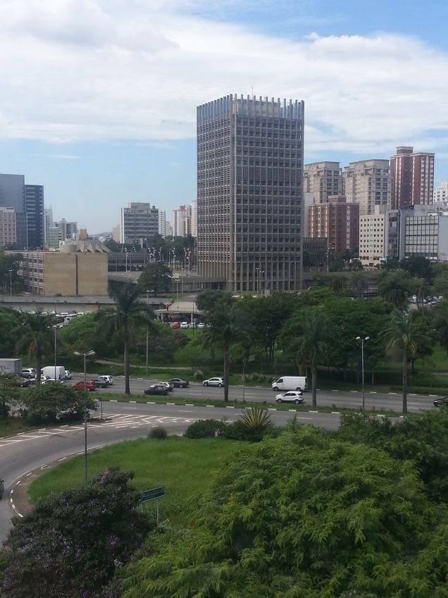 vista do Paço Municipal de Santo André, vista da janela do Diário do Grande ABC